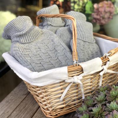 water bottles in a basket