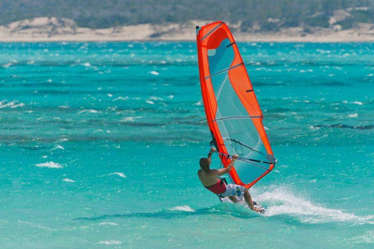 windsurfing closeup