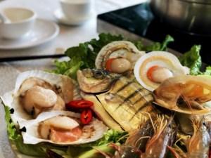 fresh plate of seafood (closeup)