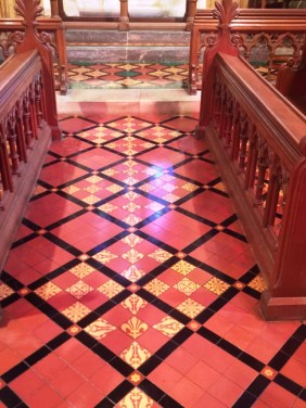 Victorian Floor Tiles Frankton Church After Sealing