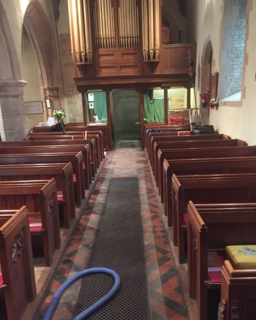 Victorian Floor Tiles Frankton Church During Cleaning