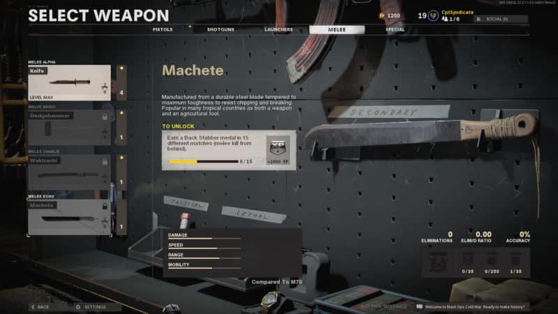 Machete unlock
