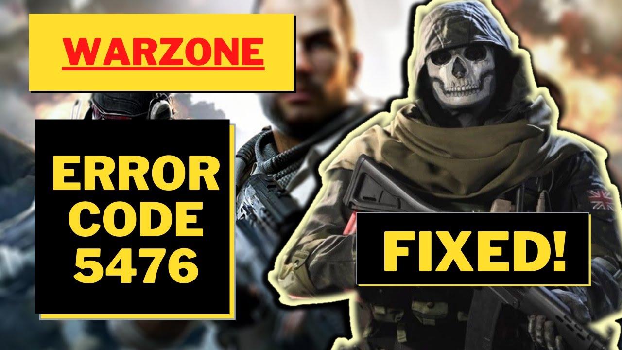 error 5476 warzone