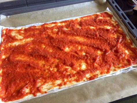 Schnelle Pizzateilchen
