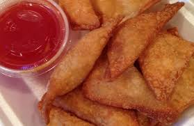 Beef Wontons with Wasabi-Maple dipping sauce.