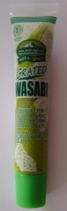 English language side of Kinjirushi Wasabi Paste tube