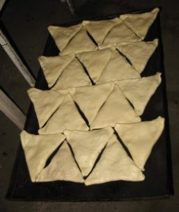 Samosas ready for baking