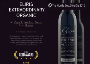 Eliris Greece Organic Olive Oil