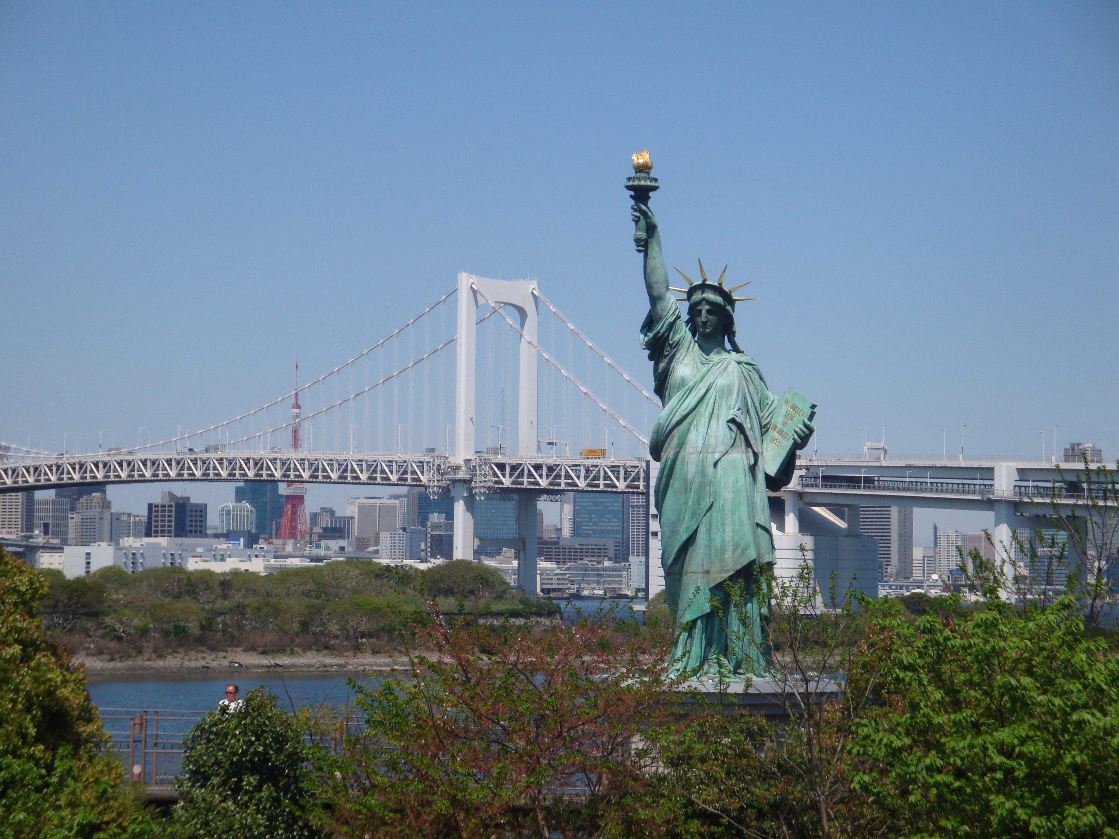 The Statue of Liberty (in Odaiba - Tokyo)