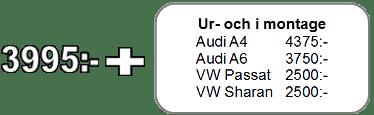 Pris för renovering av balnasaxel audi, vw, skoda och seat
