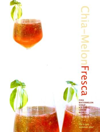 sommerliche Getränke: Wassermelonen-Chia-Fresca