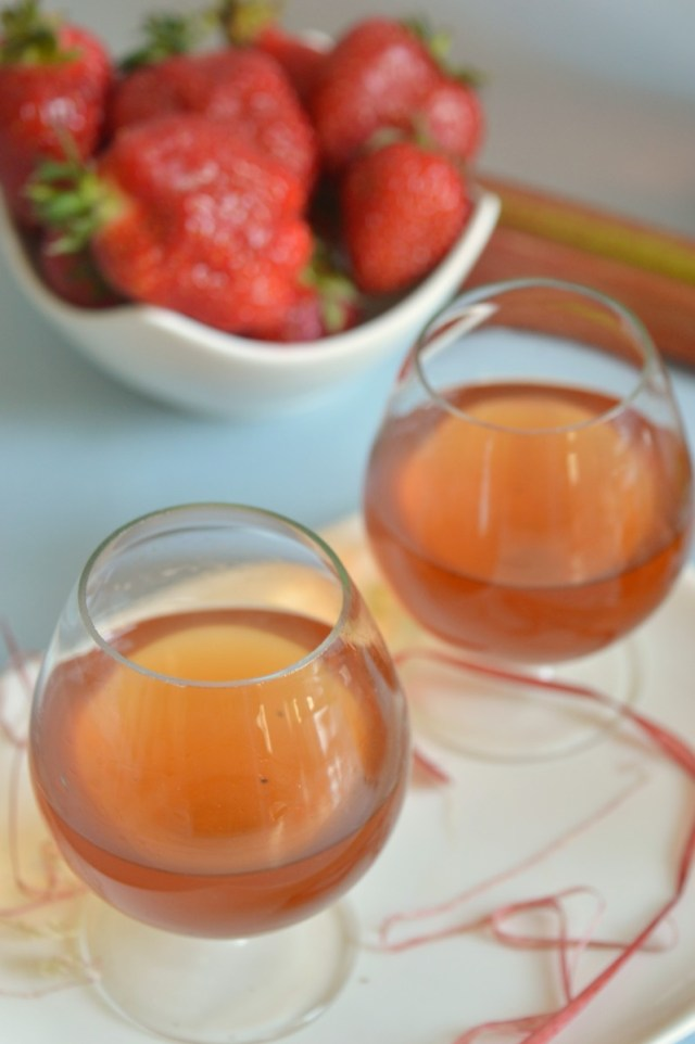 Rhabarber-Vanille-Likör - Sommerspecial Sommerliche Getränke