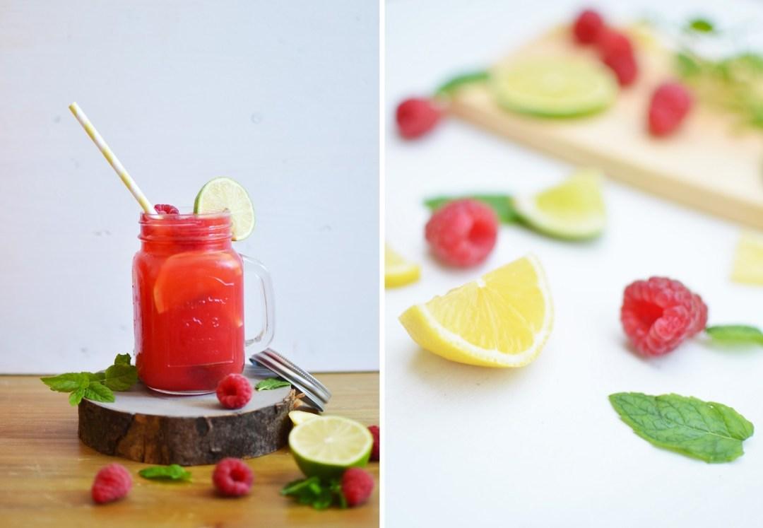 Sommerspecial - sommerliche Getränke: Raspberry Icetea ...