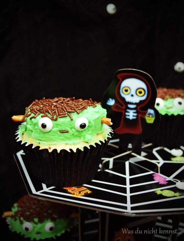 Halloween-Special Frankenstein Cupcakes