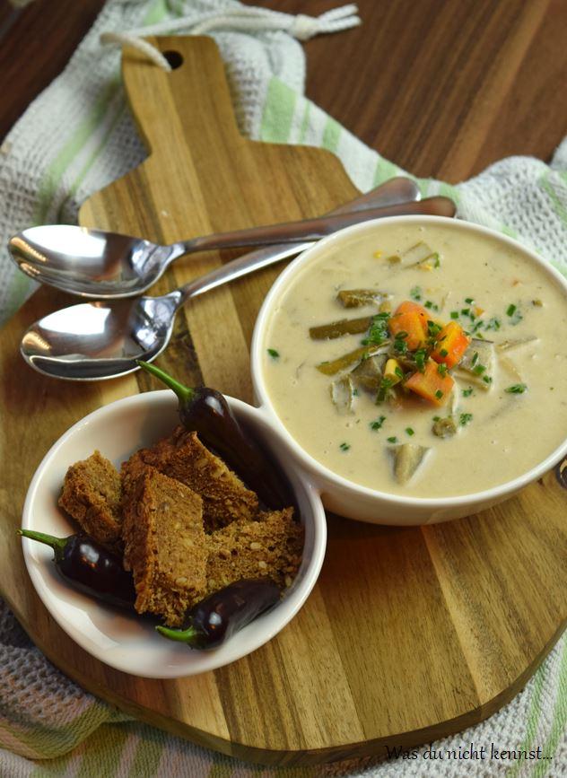 Gemüsesuppe aus dem Slowcooker