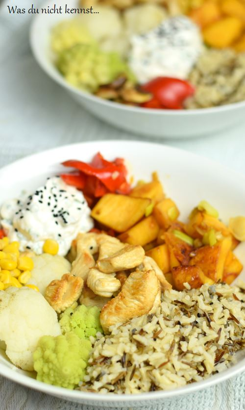 Buddha Bowl mit Reis
