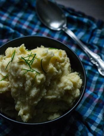Kartoffelpüree mit Zwiebeln