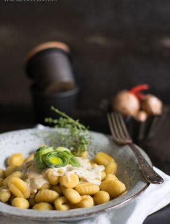 Gnocchi mit Champignon-Lauch Sauce