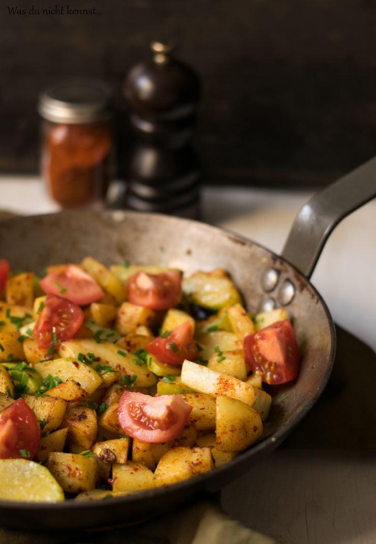 Schnelle Kartoffel-Zucchini-Pfanne - Was du nicht kennst...