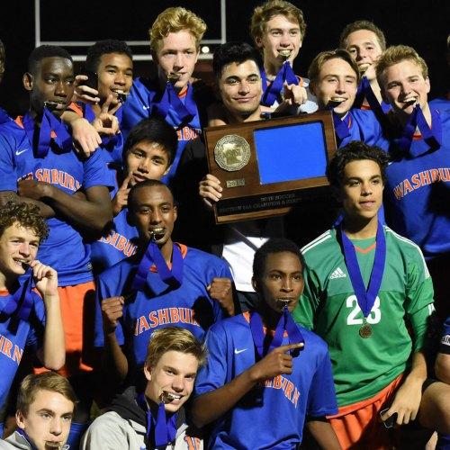 Washburn Millers win the 2015 6AA Soccer Championship