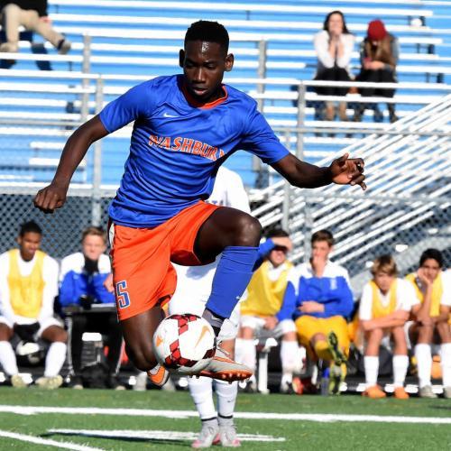 Washburn varsity soccer attacker Juan Louis