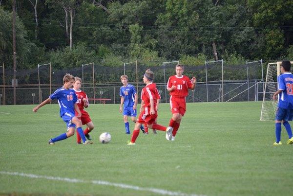 Washburn 9B Soccer squad in action against Benilde