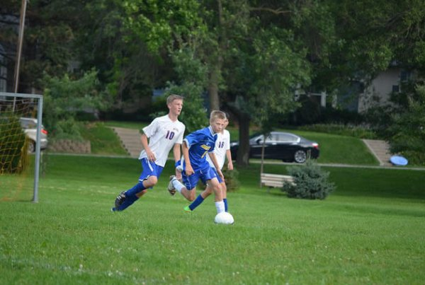 Washburn 9B soccer against Hastings