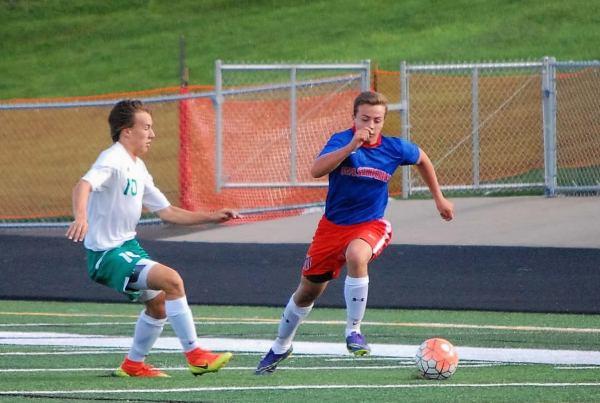 Washburn JV soccer in action against Edina