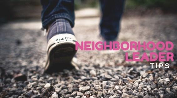 person walking down a gravel path, promoting neighborhood leaders walking