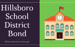 Hillsboro School District Bond with icon of a school house