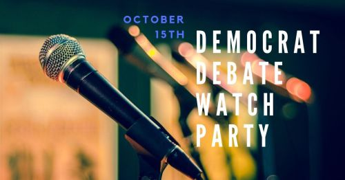 Picture of a microphone and text for October 15th debate