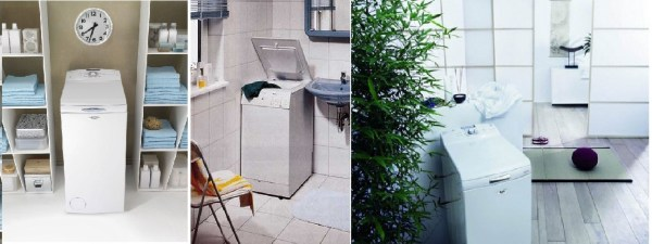 Üstten yüklemeli çamaşır makinesi
