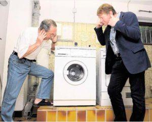Gürültülü çamaşır makinesi