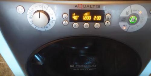 Çamaşır makinesi paneli Ariston Aqualtis