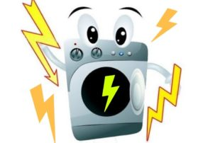 Çamaşır makinesinin gövdesindeki voltaj