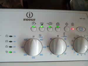 Çamaşır makinesi Indesit için hata kodları Yanıp sönen gösterge