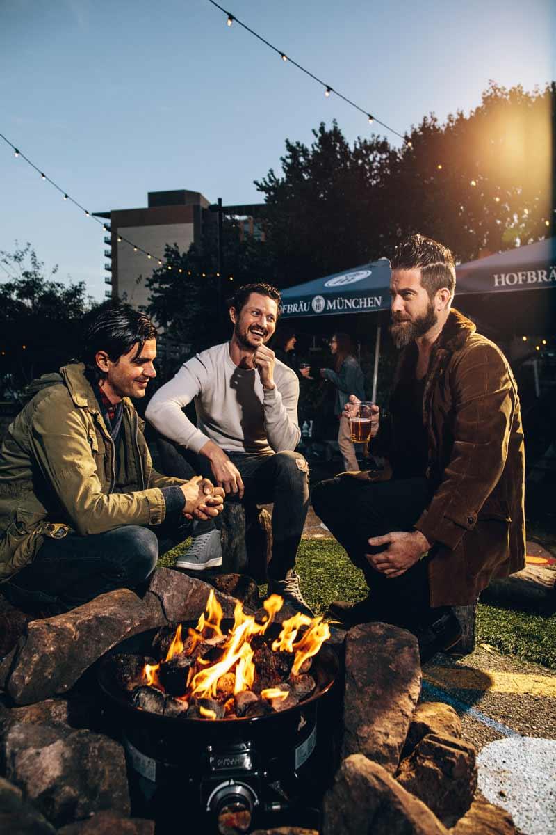 Friends around fire at Wunder Garten in NoMa - The best beer gardens in and around Washington, DC
