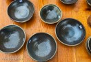 bowls on wood table