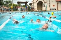 Kids swimming in first leg of Blair Kids Tri