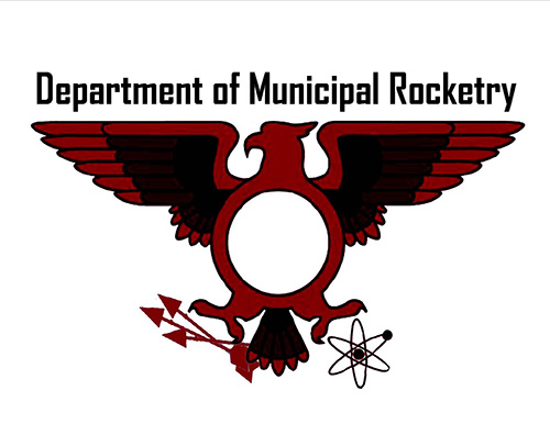 The Official Department of Municipal Rocketry Logo.