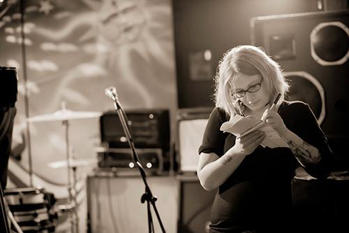 Mel Eslyn on set. Photo: Regan MacStravic.