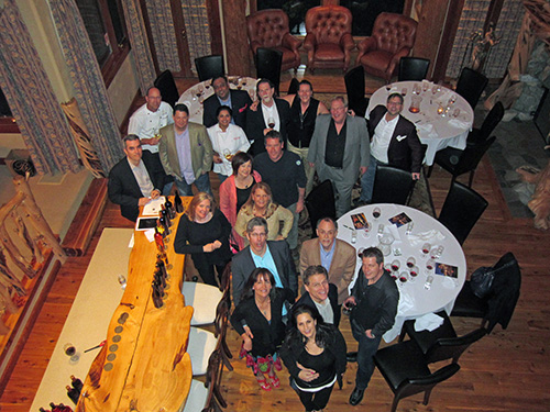 Filmmakers are treated to Walla Walla hospitality during a dinner at the Walla Walla Business Summit.