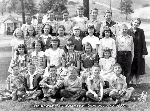 Emerson Elementary School Fourth Grade Class, May 1952