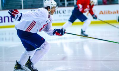 The Capitals took part in their famous skate test.