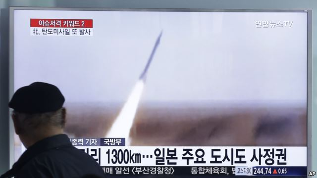 N Korea launches missiles