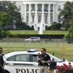 Armed man shot near White House