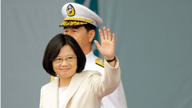 Taiwan's first female president sworn in
