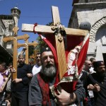 Christians celebrate Good Friday in Jerusalem