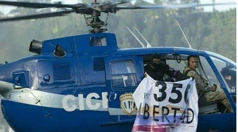 Venezuela's Supreme Court attacked by police helicopter
