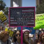 Demonstrators square off in impeachment protests